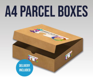 A4 Delivery - Parcel Box With Flap (301 X 214 X 25 Mm)