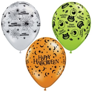 Halloween Assortment  11inch Latex Balloons Pk25