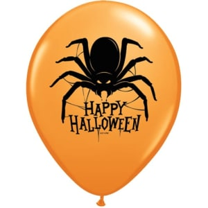Halloween Spider 11inch Latex Balloons Pk25