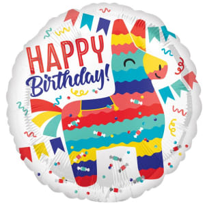 Pi�ata Happy Birthday Balloon - 18inch Foil