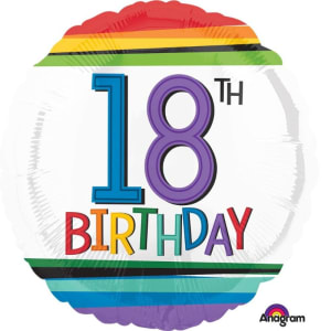 18 Inch Rainbow Celebration Balloons