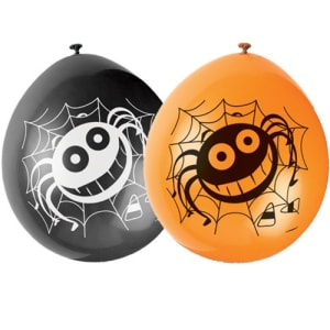 Spider 9inch Latex Balloons Pk10