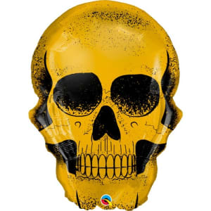 Golden Skull 36inch Supershape Balloon