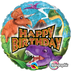 Happy Birthday Dinosaurs Balloon - 18inch Foil