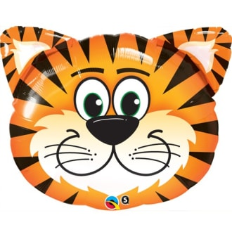 Birthday Tickled Tiger Supershape Balloon - 30inch Foil