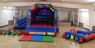 Superhero Disco Bouncy Castle 15ft X 17ft