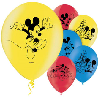 Mickey Mouse Balloons - 11inch Latex (6pk)