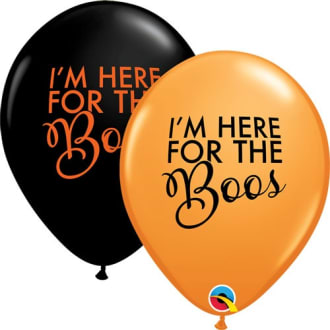 Here For The Boos 11inch Latex Balloons Pk25