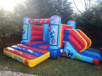 Small Party Time Castle And Slide