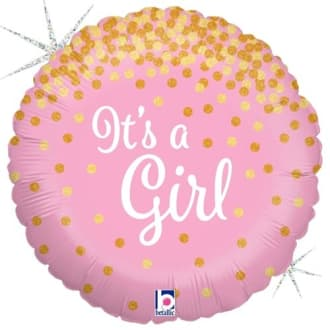 Its A Girl 18 Inch Balloon