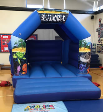 11ft X 15ft Seaworld Themed Bouncy Castle - Blue