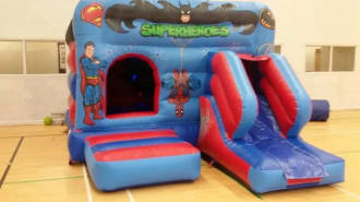 12 Feet X 18 Feet Super Hero Combi Castle