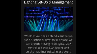 Lighting Set Up And Management