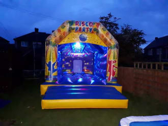 Disco Castle With Music And Disco Light