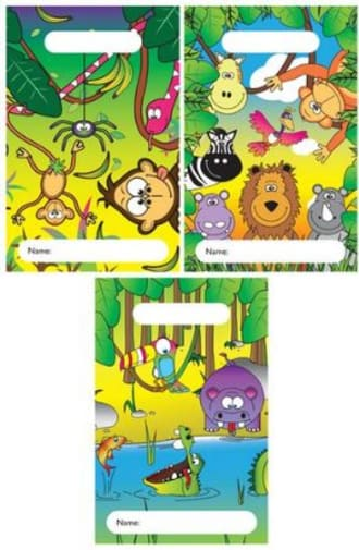 Plastic Party Bags - Jungle Theme