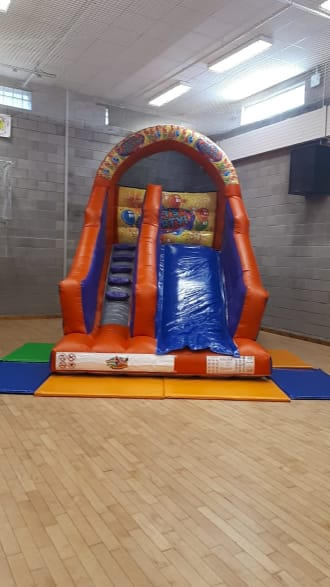 Orange And Blue 8ft Platform Slide