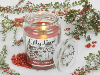 Lilly Lane Winter Berries 19oz Candle