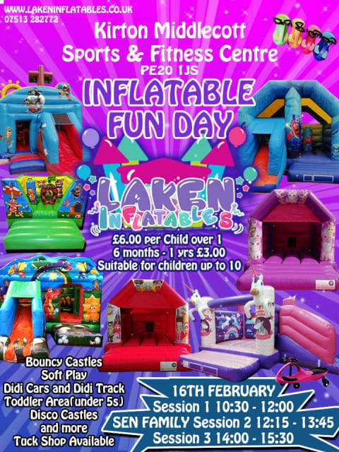 Inflatable Fun Day 16th Feb