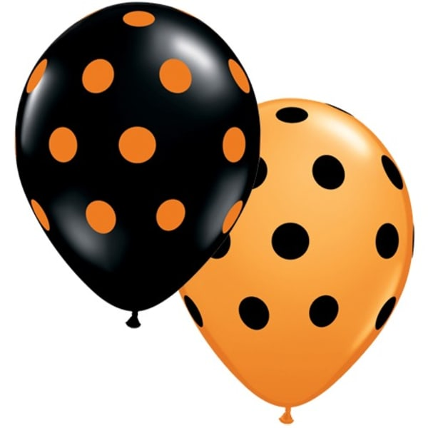 Polka Dot 11inch Latex Balloons Pk25