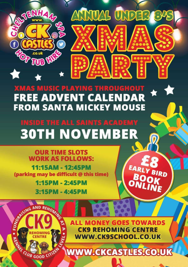 Xmas Indoor Event - Saturday 30th November - Ck9 Fundraiser