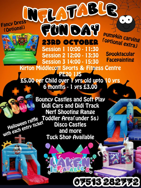 Halloween Inflatable Fun Day 23rd October 2019