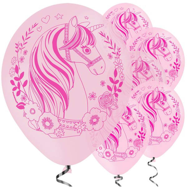 Magical Unicorn Balloons - 11inch Latex (6pk)