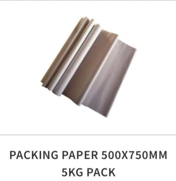Packing Paper 5kg 500 Sheets £10