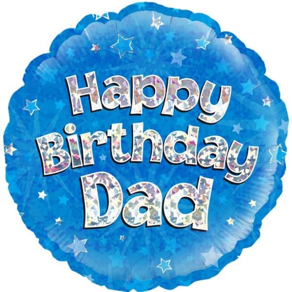 Happy Birthday Dad Blue Balloon - 18inch Foil