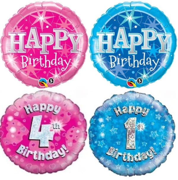 Pink Or Blue Number 1st - 10th Foil Balloon