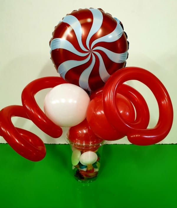 Red Swirl Candy Cup