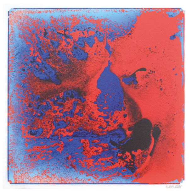 Fascination Tile Blue And Red 50cm