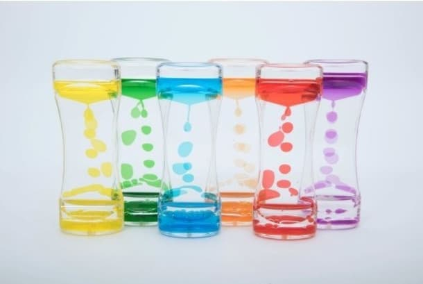 Rainbow Liquid Timers Set Of 6