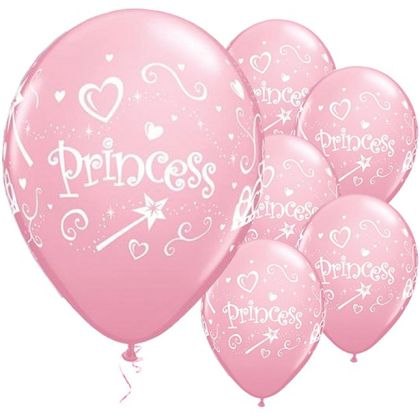 Princess Pink Balloons - 11inch Latex (6pk)