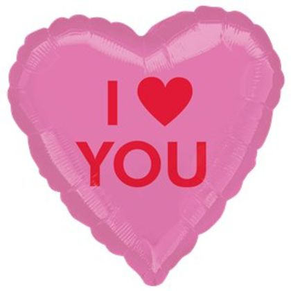 I Heart You Candy Heart Balloon - 18inch Foil
