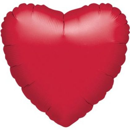 Metallic Red Heart Balloon - 18 Foil