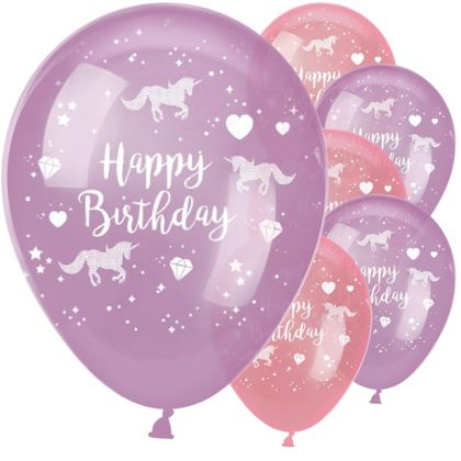 Unicorn Sparkle Balloons - 11inch Latex (6pk)