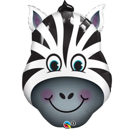 Birthday Zany Zebra Supershape Balloon - 32inch Foil