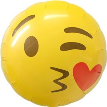 Emoji Kissing Heart Balloon - 18inch Foil