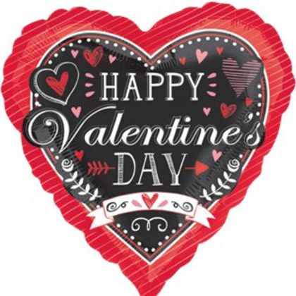 Happy Valentines Day�balloon - 18inch Foil