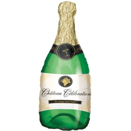Champagne Bottle Supershape Balloon - 38inch Foil