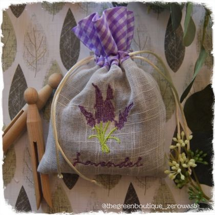 Lavender Blossoms In A Linen Bag