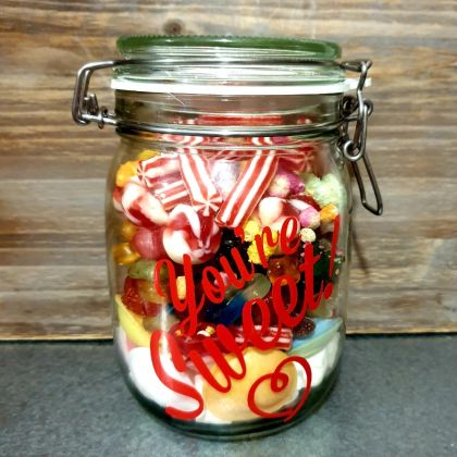 Large Sweet Mason Jar