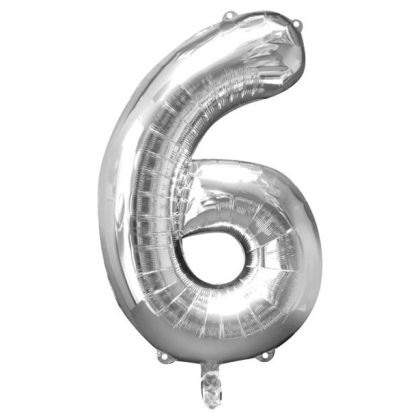 Number 6�balloon - 34inch Foil