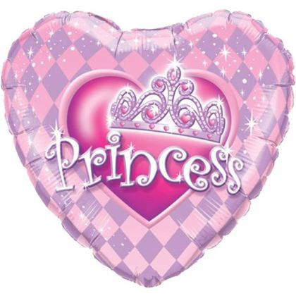 Princess Tiara Heart Shaped Balloon - 18inch Foil