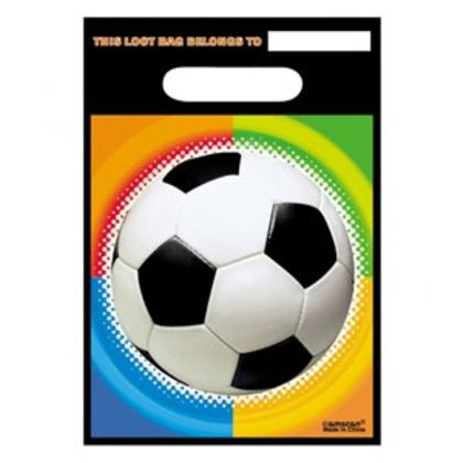 Plastic Party Bags - Football Theme