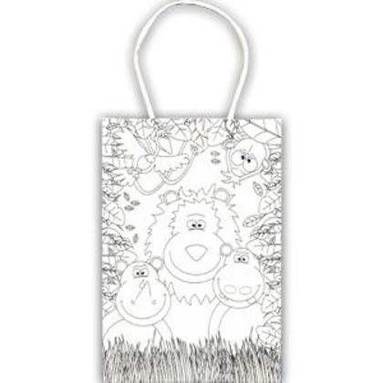 Paper Party Bags - Activity Colouring Design