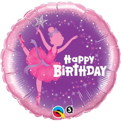 Ballerina Happy Birthday Balloon - 18inch Foil
