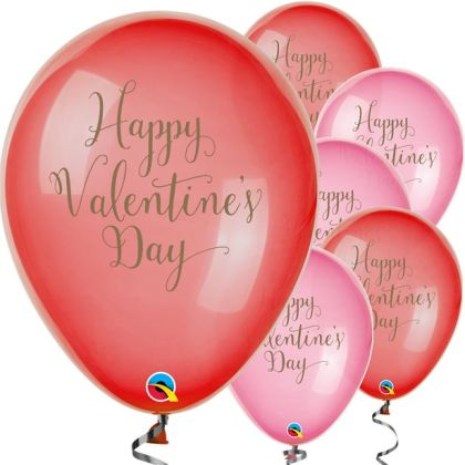 Happy Valentines Day Balloons - 11inch Latex (25pk)