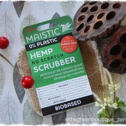 Hemp No-scratch Scrubber