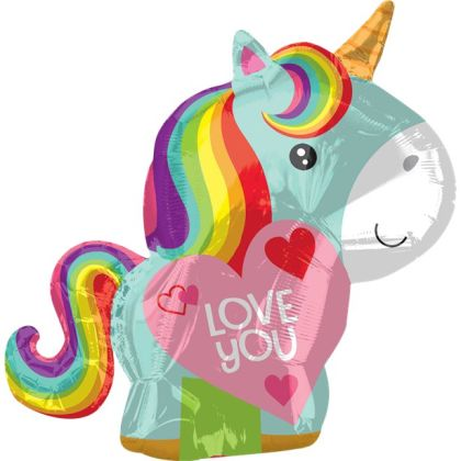 Unicorn Love Foil Balloon - 21inch